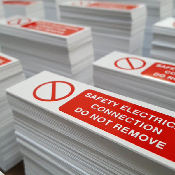 Indoor PVC Label